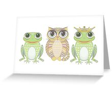 Frog Cat Prince Greeting Card