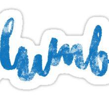columbia-script Sticker