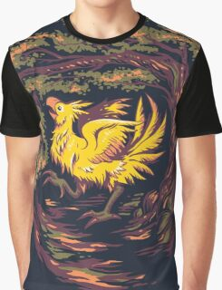 Chocobo with Blossoms Graphic T-Shirt