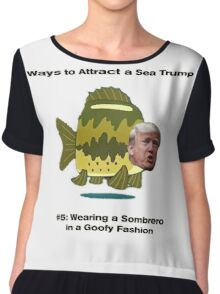 Sea Trump Chiffon Top