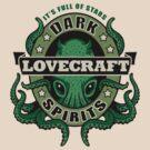 Lovecraft Dark Spirits - light print by Rebekie Bennington