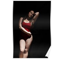 Girl in red leotard Poster