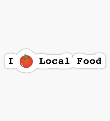 I Love Local Food (Tomato) Sticker