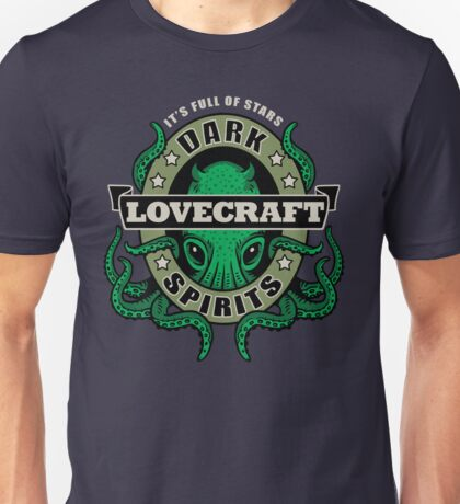 Lovecraft Dark Spirits - dark print Unisex T-Shirt