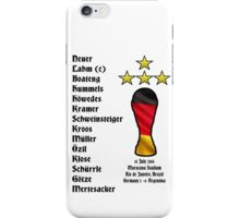 Germany 2014 World Cup Final Winners iPhone Case/Skin