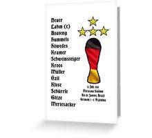 Germany 2014 World Cup Final Winners Greeting Card