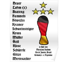 Germany 2014 World Cup Final Winners Poster