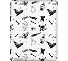 A Few of My Macabre Things (on white) iPad Case/Skin