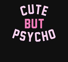 Cute But Psycho (Pink Letters) Womens Fitted T-Shirt