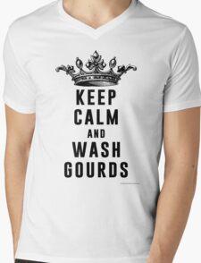 Keep Calm and Wash Gourds Mens V-Neck T-Shirt