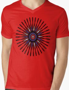 Patriotic Burst Mens V-Neck T-Shirt