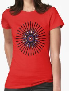 Patriotic Burst Womens Fitted T-Shirt
