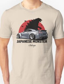 Nissan GTR. Japanese Monster (grey) Unisex T-Shirt