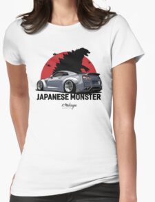 Nissan GTR. Japanese Monster (grey) Womens Fitted T-Shirt