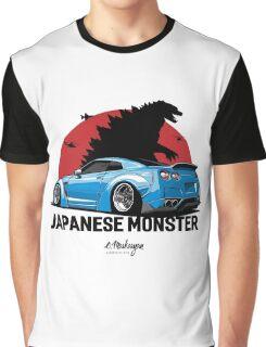 Nissan GTR. Japanese Monster (blue) Graphic T-Shirt