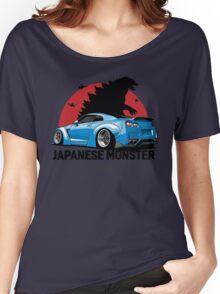 Nissan GTR. Japanese Monster (blue) Women's Relaxed Fit T-Shirt