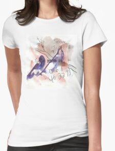 Doodle birds Womens Fitted T-Shirt