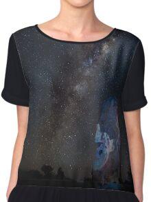 Milky Way over Sculptures Chiffon Top