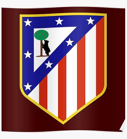 atletico madrid logo Poster