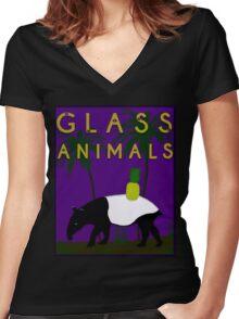 Glass Animals Tapir Women's Fitted V-Neck T-Shirt