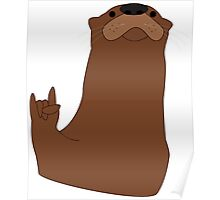 Rock and Roll Otter Poster