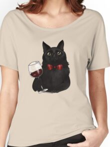 Wine Cat Women's Relaxed Fit T-Shirt