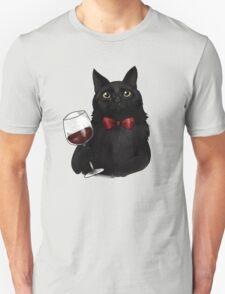 Wine Cat Unisex T-Shirt