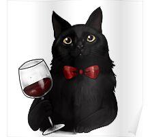Wine Cat Poster