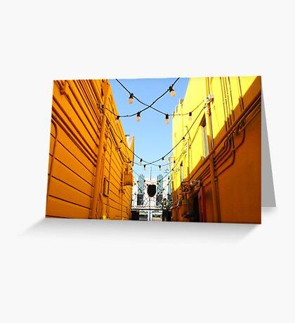 Yellow Walls, Blue Sky Greeting Card