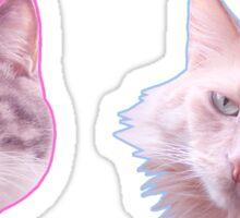 Miya and Batou Sticker
