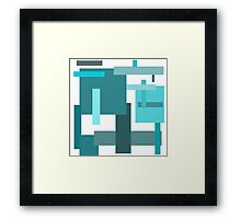 Frost Blocks Framed Print