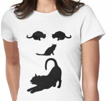 Funny Cats Face - Cool Cat's T-Shirt  Womens Fitted T-Shirt