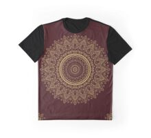 Gold Lace on Royal Red Background, #redbubble, #design, #pattern Graphic T-Shirt