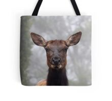 Elk in the Fog Tote Bag
