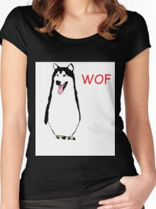 WOF PENGUIN Women's Fitted Scoop T-Shirt