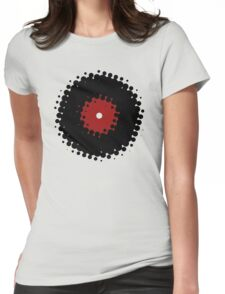 Vinyl Records Retro Vintage 50's Style Womens Fitted T-Shirt