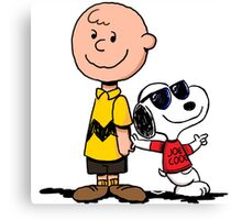 snoopy and charlie cool Canvas Print