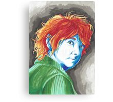 Abstract Bilbo Baggins Traditional Protrait Canvas Print