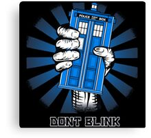 Don't Blink - Doctor Who Canvas Print