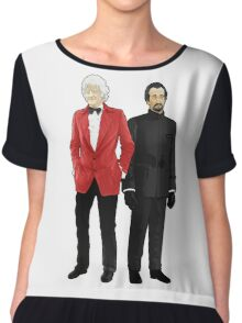 Doctor Who - Third Doctor and The Master Chiffon Top