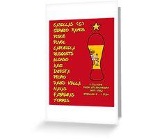 Spain 2010 World Cup Final Winners Greeting Card