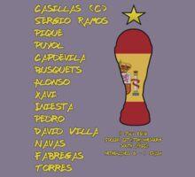 Spain 2010 World Cup Final Winners Kids Tee