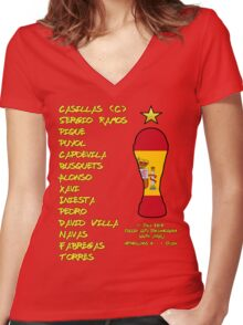 Spain 2010 World Cup Final Winners Women's Fitted V-Neck T-Shirt