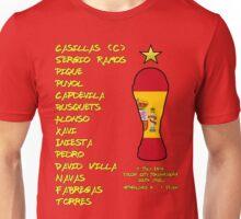 Spain 2010 World Cup Final Winners Unisex T-Shirt