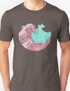 Japanese pastel kawaii Kanagawa anime meme surf beach wave Unisex T-Shirt