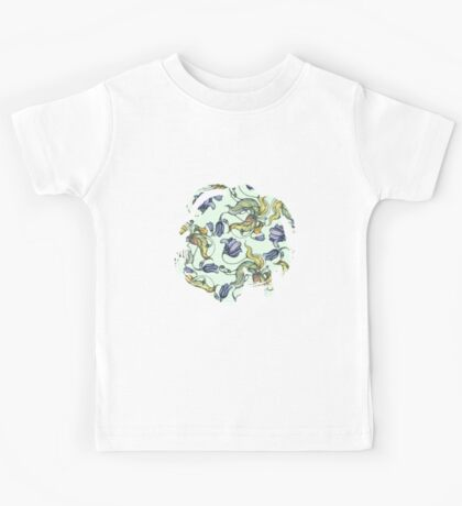 vintage floral pattern watercolor drawing Kids Clothes