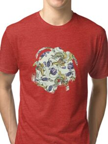 vintage floral pattern watercolor drawing Tri-blend T-Shirt