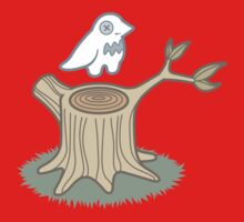 ghost bird and tree trunk One Piece - Long Sleeve