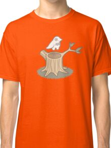 ghost bird and tree trunk Classic T-Shirt