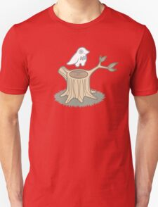 ghost bird and tree trunk Unisex T-Shirt